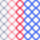 Reeks van vier naadloze patronen van de kleurenplaid Royalty-vrije Stock Afbeelding