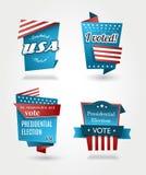 Reeks van vier presidentsverkiezingkentekens Royalty-vrije Stock Fotografie