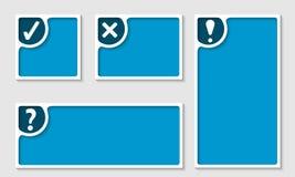 Reeks van vier tekstkader vector illustratie