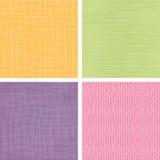 Reeks van vier textiel naadloze stoffentexturen stock illustratie