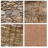 Reeks van vier texturen Royalty-vrije Stock Fotografie