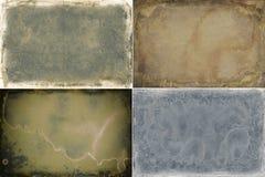 Reeks van vier texturen van het grungekader stock illustratie