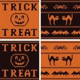 Reeks van vier texturen van Halloween Jersey Stock Foto