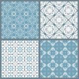 Reeks van vier uitstekende symmetrische naadloze patronen Royalty-vrije Stock Foto