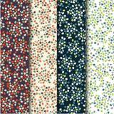 Reeks van vier vector naadloze patronen met vlekken vector illustratie