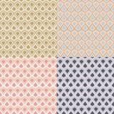 Reeks van vier vector uitstekende patronen in pastelkleuren Royalty-vrije Illustratie