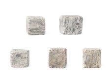 Reeks van vijf stenen van het whiskygraniet Royalty-vrije Stock Afbeelding