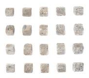 Reeks van vijf stenen van het whiskygraniet Stock Fotografie