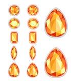 Reeks van vijf vormen van amber Stock Fotografie