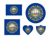 Reeks van Vlag van de Staat van de V.S. van New Hampshire royalty-vrije illustratie