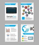Reeks van Vlieger De malplaatjes van het brochureontwerp Het concept van World Wide Web De achtergrond van netwerktechnologieën Royalty-vrije Stock Foto's