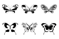 Reeks van Vlinder Royalty-vrije Stock Afbeelding