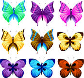 Reeks van vlinder Royalty-vrije Stock Fotografie