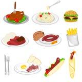 Reeks van voedsel Stock Foto's