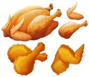 Reeks van voedsel door kip wordt gemaakt die royalty-vrije illustratie
