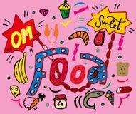 Reeks van voedsel Illustratie royalty-vrije illustratie