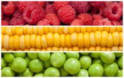 Reeks van voedselachtergrond Stock Foto
