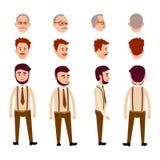 Reeks van Voor, Achter en Zijaanzicht van Drie Mensen royalty-vrije illustratie
