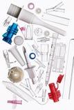 Reeks van voorwerp die van plastiek wordt gemaakt. Royalty-vrije Stock Fotografie