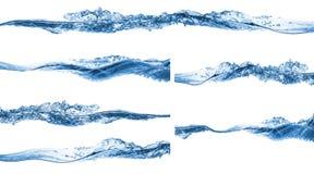 Reeks van water het bespatten royalty-vrije stock afbeelding