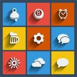 Reeks van Web 9 en mobiele pictogrammen. Vector. Stock Foto
