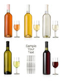Reeks van wijn Stock Foto's