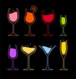 Reeks van wijnglas Royalty-vrije Stock Foto