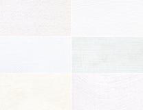 Reeks van witte textuur met een patroon. Royalty-vrije Stock Afbeeldingen