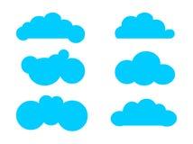 Reeks van wolken vectorillustratie stock illustratie