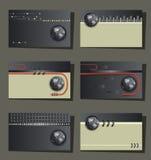 Reeks van zes adreskaartjes - moderne technologie Royalty-vrije Stock Fotografie