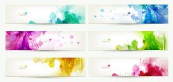 Reeks van zes banners vector illustratie