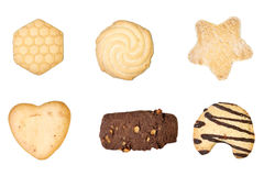 Reeks van zes heerlijke koekjes Stock Afbeeldingen