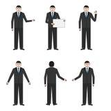 Reeks van zes zakenlieden Stock Afbeelding