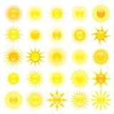 Reeks van zon Stock Foto's