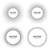 Reeks van Zwart Abstract Cirkelkader Halftone Dots Logo Design Elements voor medische behandeling, schoonheidsmiddel Stock Afbeelding