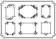 Reeks van zwart frame Royalty-vrije Stock Fotografie