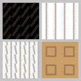 Reeks van 4 zwart-wit elegante naadloze patronen vector illustratie