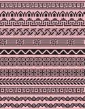 Reeks van 12 zwarte geometrische grenzen Stock Afbeeldingen