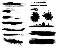 Reeks van zwarte inkt Stock Foto's