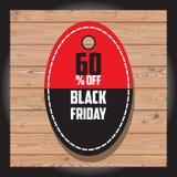 Reeks van Zwarte vrijdagverkoop Zwarte vrijdagbanner De banner van de verkoop Stock Afbeelding