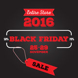 Reeks van Zwarte vrijdagverkoop Zwarte vrijdagbanner De banner van de verkoop schijf Royalty-vrije Stock Foto