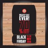 Reeks van Zwarte vrijdagverkoop Zwarte vrijdagbanner De banner van de verkoop schijf Royalty-vrije Stock Foto's