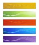Reeks vector abstracte banners Royalty-vrije Stock Foto's
