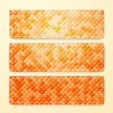 Reeks vector abstracte geometrische banners Stock Foto's