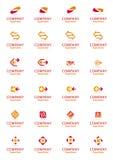 Reeks vector collectieve symbolen van het pijlembleem Stock Foto's