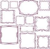 Reeks vector decoratieve kaders Stock Foto's