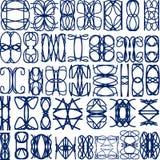 Reeks vector decoratieve ornamentelementen Stock Fotografie
