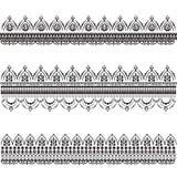 Reeks vector decoratieve patronen Mehndi royalty-vrije illustratie