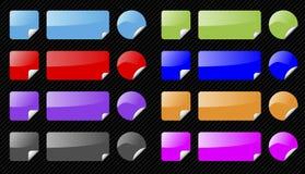 Reeks vector glanzende Webelementen. Royalty-vrije Stock Foto's