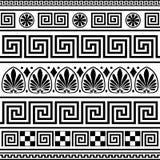 Reeks vector Griekse grenzen Royalty-vrije Stock Afbeeldingen